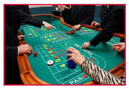 Craps Is Played With Two Dice, Players Bet On The Outcome Of The Numbers  Thrown. The Player Throwing The Dice Is Known As The Shooter.